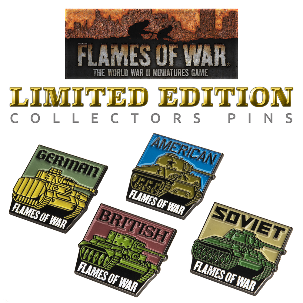 "Flames Of War ""Big Four"" Limited Edition Collectors Pins"