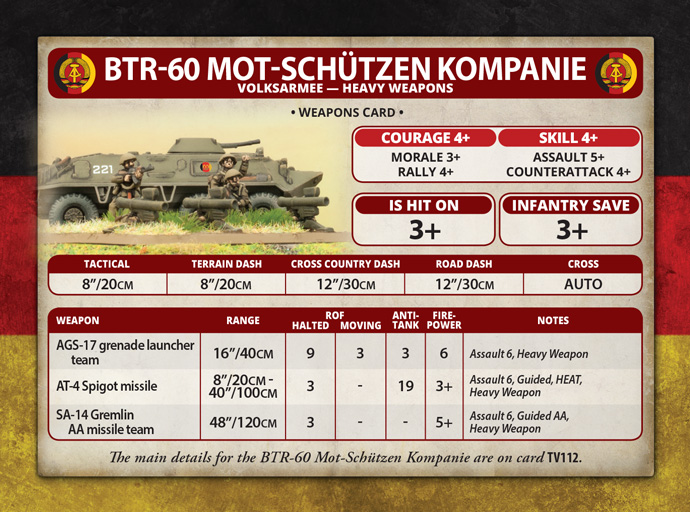 East German Mot-Schützen Heavy Weapons (TEG706)