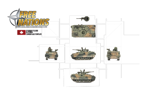 Canadian 4 CMGB Painting Templates